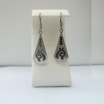 Hopi Style Symbol etched Earrings